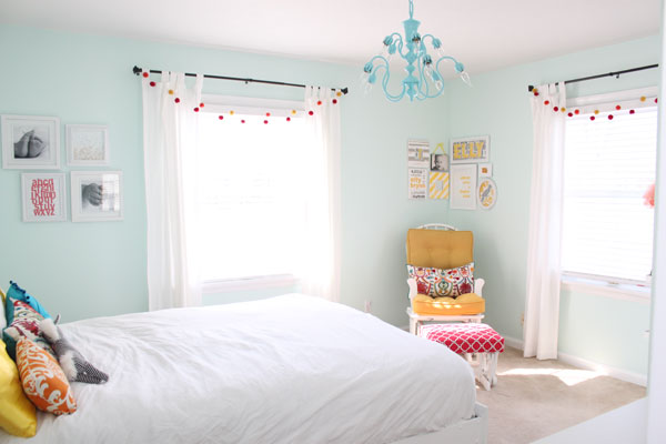 Cheerful prints and unique accent colors