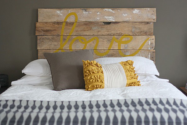 DIY Fence headboard