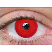 red contact lens