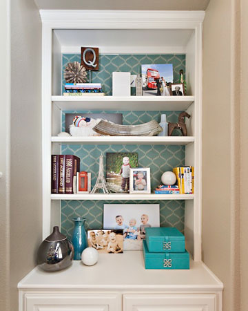 Abbe Fenimore organized book shelf