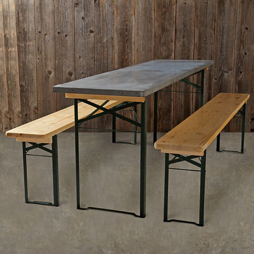 Williams & Sonoma Vintage Galvinized Biergarten table