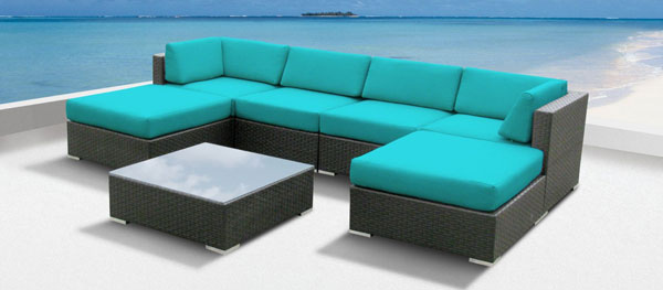 Amazon.com Luxxella wicker Mallina sectional sofa