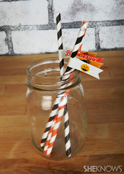 Halloween straw tags
