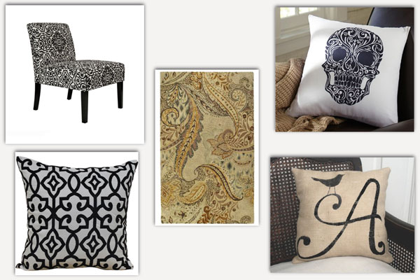 Steal the look: Autumn decor edition: Black and White damask