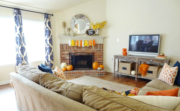 Steal the look: Autumn decor edition: Orange comforts