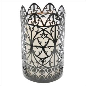 LED Scroll hurricane candle