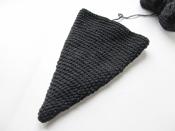 Crochet witch hat: top