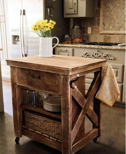 Hamilton reclaimed kitchen island