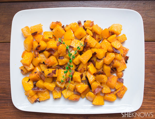 Sweet squash and salty bacon