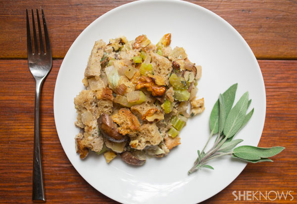 Sage, mushroom and walnut stuffing