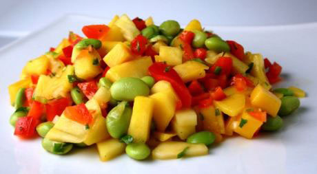 Mango-edamame salsa