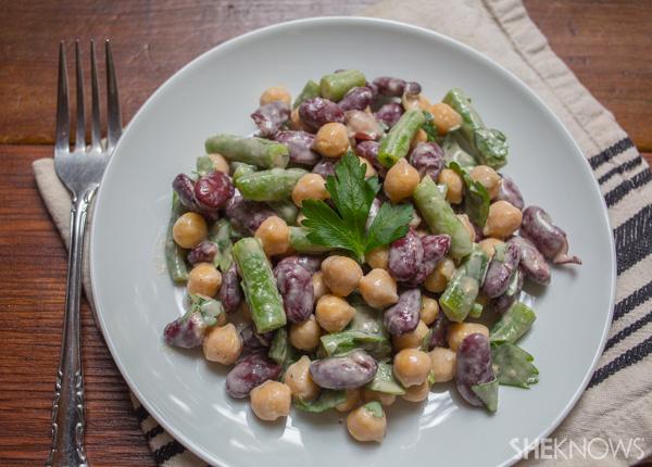 Bean medley salad and dressing | SheKnows