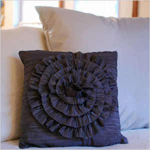 High-end, light weight ruffled pillow.