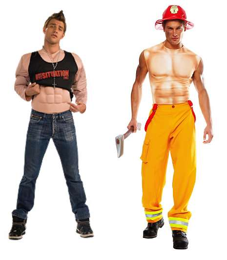 Sexy men's costumes for Halloween