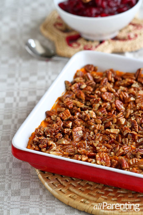 allParenting Sweet potato casserole with maple pecan streusel