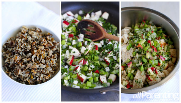 allParenting Wild rice, apple and herb stuffing