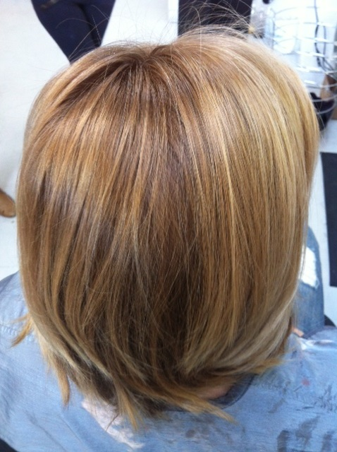 esalon- Woman golden light blonde hair