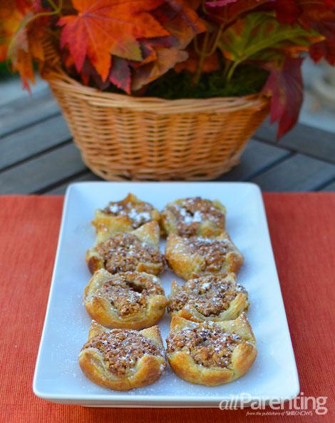 allParenting Thanksgiving mini pecan tarts