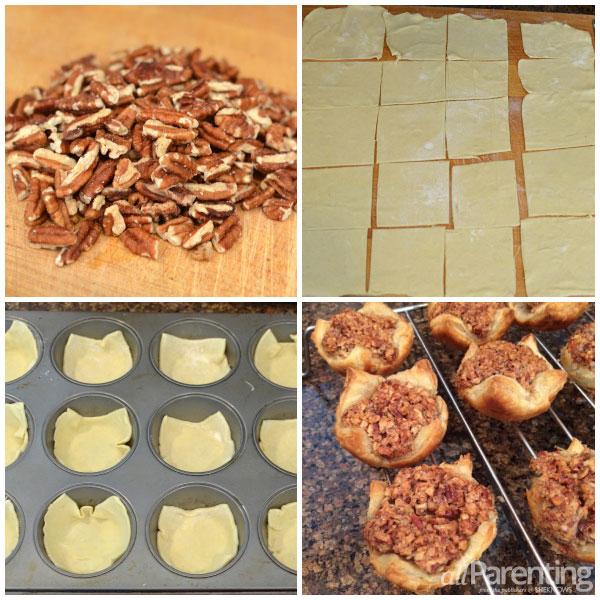 allParenting Thanksgiving mini pecan tarts collage