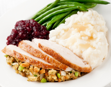 Thanksgiving dinner plate & Ways to give this holiday season