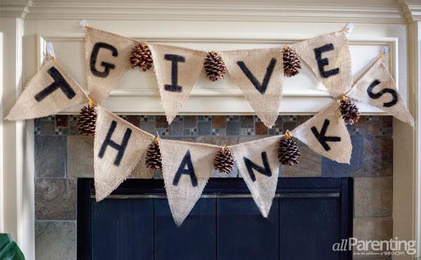 allParenting Thanksgiving garland