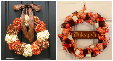 Thanksgiving wreaths- Etsy roundup collage