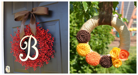 Thanksgiving wreaths- Etsy roundup collage 2