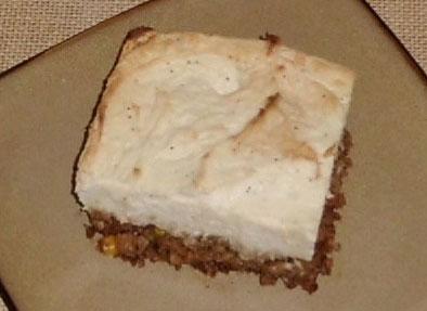 Vegetarian shephard's pie
