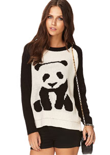 Quirky Panda Sweater