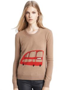Burberry Brit Wool & Cashmere Intarsia Sweater
