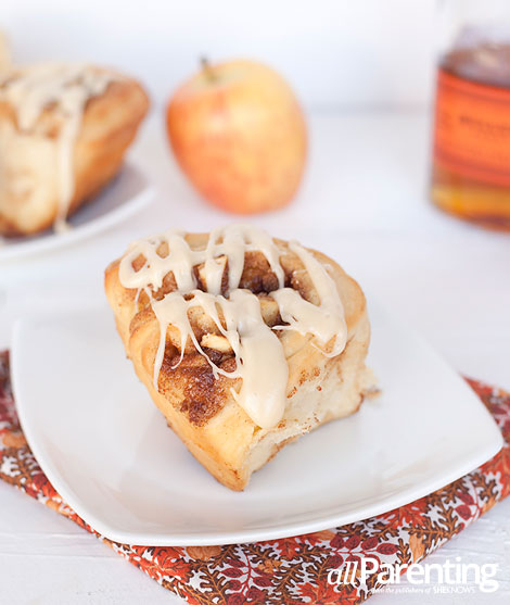 allParenting homemade apple cinnamon rolls