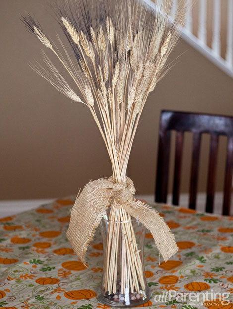 allParenting Wheat table centerpiece