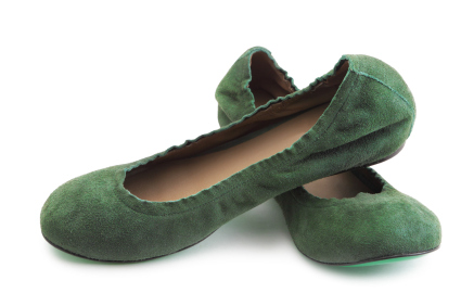 Emerald ballet flats
