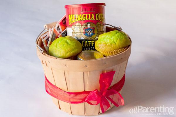 DIY homemade breakfast basket