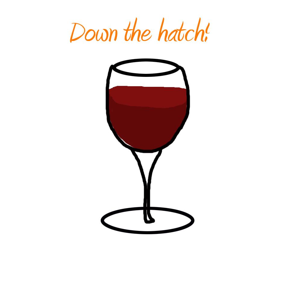 Wine Glass cocktail coaster image