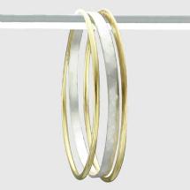 Sheva hammered bangles bracelet
