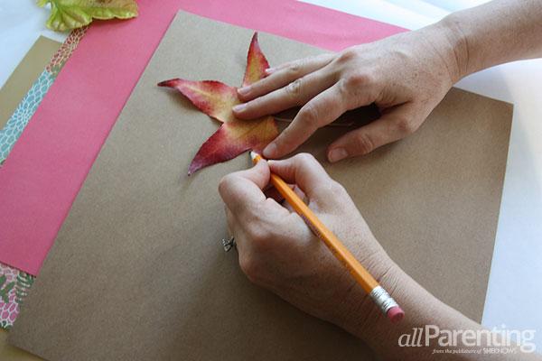 Tree of gratitude- leaf tracing