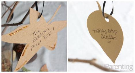 Tree of gratitude- sample leaves