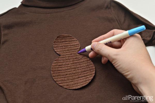 allParenting turkey shirt step 3