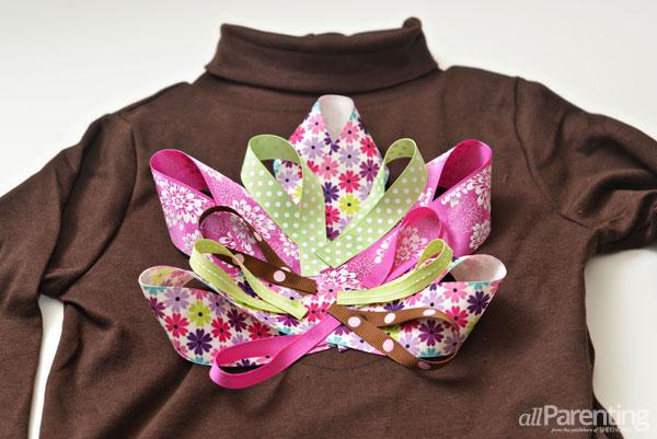 allParenting turkey shirt step 5