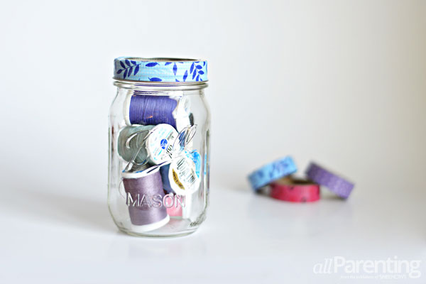 allParenting washi tape mason jars