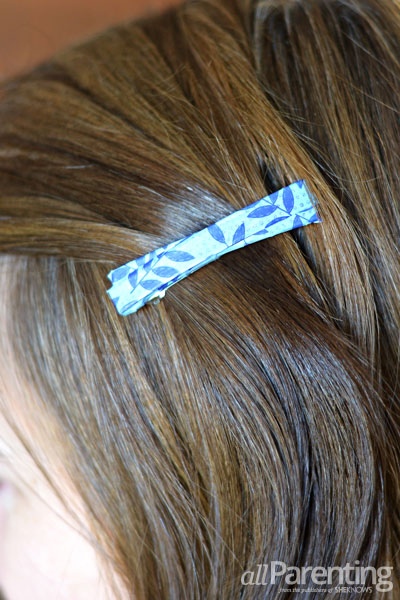 allParenting washi tape hair clips