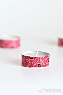 allParenting washi tape tea lights