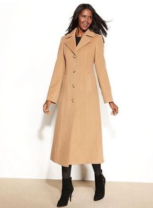 Anne Klein camel coat - Replica of Kim Kardashian's coat