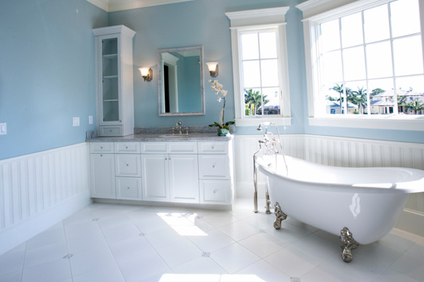 Baby blue bathroom