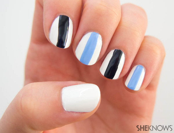 Fan-icure: San Diego Chargers | Sheknows.com -- alternating stripes