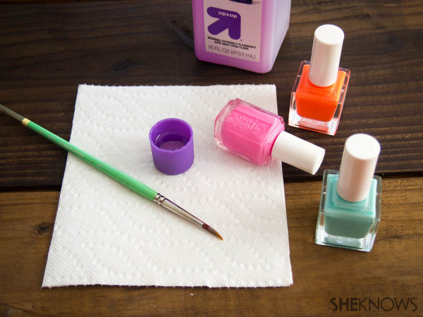 Nail design tutorial: The water color effect | Sheknows.com -- supplies