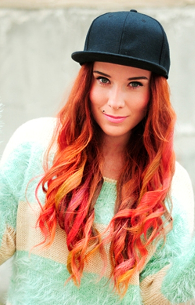 How to chalk red hair