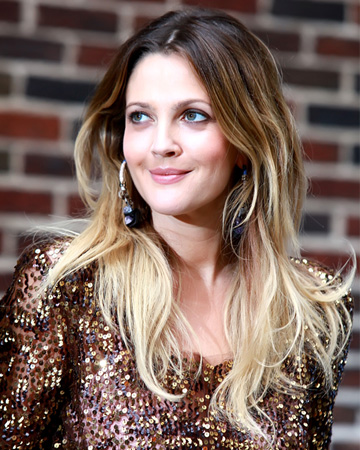 Drew Barrymore's ombre hair
