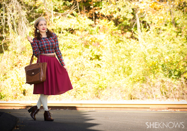Fall outfits that rock plaid and polka dots | ModCloth & SheKnows.com